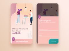 Book Online designed by Cüneyt ŞEN. Connect with them on Dribbble; Web Design, Graphic Design, Saint Charles, Show And Tell, Books Online, Books To Read, App Ui, Ui Ux, Design Inspiration