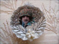 """vintage inspired """"tart tin"""" ornament... #Christmas #ornament <3   <3...etsy"""