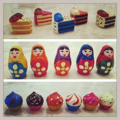 We just <3 these desserts and dolls! Add some whimsy to your baubles!  $2.00 each!
