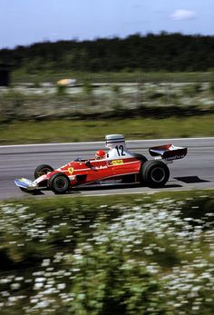 Ferrari Friday … what we miss … natural racetracksNiki Lauda, Ferrari 312T, 1975 Swedish Grand Prix, Anderstorp