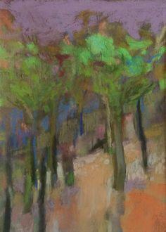 "Lies the Slope. 2014. 8.75"" x 6.25."" Pastel. Casey Klahn."