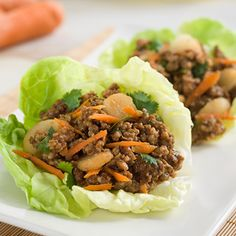 Asian Sausage Lettuce Cups: Our famous original sausage roll mixed with hot spices and wrapped in a cool lettuce roll.