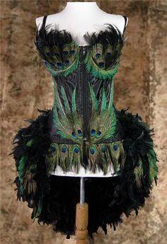 D Moulin Showgirl Peacock Rouge Burlesque Costume | eBay $399.99