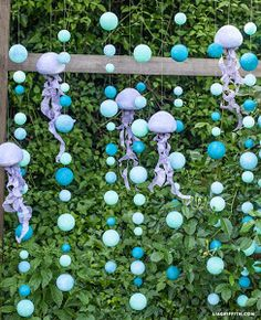 Under The Sea Photo Backdrop Party Props – Lia Griffith Ball_Backdrop/Decor (this is an under the sea theme, but I like for any occasion, minus the jellyfish) Party Kulissen, Party Props, Ideas Party, Beach Party Ideas For Kids, Under The Sea Theme, Under The Sea Party, Under The Sea Decorations, Ocean Party Decorations, Beach Theme Parties