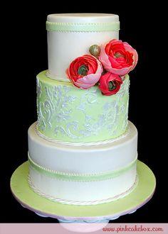 Ranunculus Flower Wedding Cake