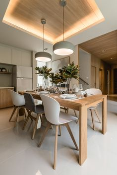 38 Modern Dining Room Design Ideas with Chandelier – Esszimmer Ideen