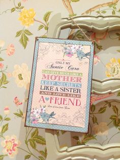 Aunt Gift Godmother Gift sister gift by SugarPrintFairy on Etsy