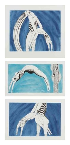 This piece by Louis Bourgeois is her depiction of sexual tension. Istared at this image throughout all of yesterday. It's extremely sexually appealing in its teasing aspects.  Louise Bourgeois Tryptich