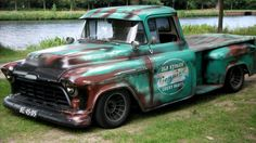 hot rod, muscle cars, rat rods and girls 57 Chevy Trucks, Old Pickup Trucks, Classic Chevy Trucks, Hot Rod Trucks, Gm Trucks, Chevy Pickups, Cool Trucks, Classic Cars, Chevy Classic