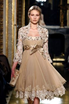 Golden lace/gemstone bridesmaid gown by Zuhair Murad