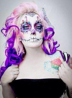 Awesome sugar skull makeup