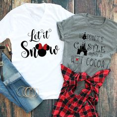 I need these Disney Christmas Holiday Tees in my life right this second! Disney World Shirts, Disney Christmas Shirts, Disneyland Christmas, Disney Tees, Disney Shirts For Family, Family Shirts, Disneyland Trip, Christmas Holiday, Christmas At Disney World
