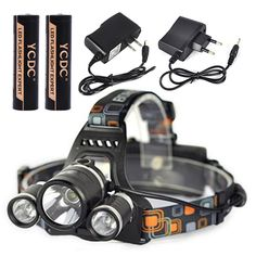RJ-3000 K91 A60  YES/NO Battery 5000 2000 1000 LM LED Head Torch Flashlight 18650 Battery Operated Light+AC Charger EU US
