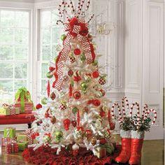 White Iced Fir Tree - Christmas sayings - Dekoration White Christmas Trees, Beautiful Christmas Trees, Grinch Christmas, Xmas Tree, All Things Christmas, Christmas Home, Christmas Holidays, Christmas Crafts, Fir Tree