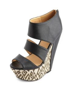 Triple Strap Tribal Wedge Sandal: Charlotte Russe