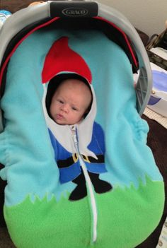Gnome Car Seat Snuggler Fitted Cover by TheLittleEngine on Etsy, $83.00