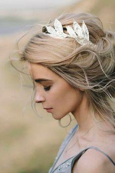 Bridal Tiara, Bridal silver crown, Silver wedding headpiece, Bridal hair wreath, Hair Accessories - Home Wedding Hair And Makeup, Wedding Hair Accessories, Bridal Makeup, Casco Floral, Bridal Tiara, Bridal Jewelry, Bridal Updo, Bridal Crown, Hair Wreaths