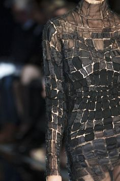 Elegant Textures & Pattern - dress with stunning appliqué surface pattern detail - close-up fashion // Tom Ford