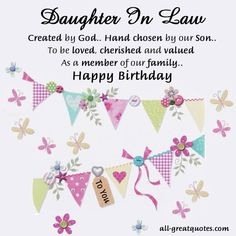 Birthday Greetings For Daughter In Law Wishes Greeting Cards Happy