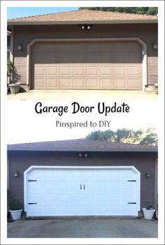 Garage Door Makeover Diy Home 39 Ideas Garage Door Update, Diy Garage Door, Garage Door Makeover, Wood Garage Doors, Garage Door Design, Garage Ideas, Door Ideas, Trendy Home Decor, Inexpensive Home Decor