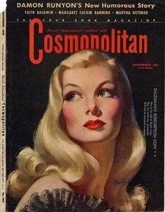 1941 Cosmopolitan magazine cover Cosmo makes me smileee