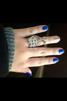 Essie butler please and on a silver platter for the accent nail