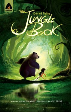 """The Jungle Book: The Graphic Novel (Campfire Graphic Novels)  The adventure begins the night a boy, Mowgli, escapes certain doom after being trapped in the perilous clutches of the tiger Shere Khan. To protect Mowgli and to defy the tiger, the Seeonee wolf pack adopts the boy, giving him the nickname """"Man-Cub"""". Other animals like panther, bear, and python teach the boy how to survive...  Read Now: http://ocomics.com/  #graphic #novels #online #ocomics #junglebook"""