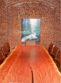 Bubinga Live Edge Conference Table by jeremiah-martin.com