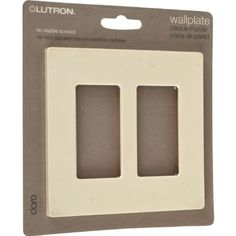 Lutron Claro Two Gang Rocker Wallplate - Almond by USA Wholesaler. $29.95. Contemporary settings demand the soft corners, fashionable colors and tasteful textures provided by decorator style wallplates and accessories.Claro wall plates are a simple and elegant solution designed to match your existing decorator openings. They feature a clean appearance with no visible screws and mount flush to the wall. Claro wall plates are oversized to hide gaps around wall boxes and attach...