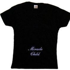 Flirty Diva Tees Woman's LooseFit T-Shirt-Miracle Child-Black-Blue Pearl (Apparel)  http://www.amazon.com/dp/B007ZT1SAU/?tag=classy111-20  B007ZT1SAU