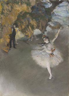 """""""Ballet"""" (dit) d'Edgar Degas (1834-1917). Paris, musée d'Orsay - Photo (C) Musée d'Orsay, Dist. RMN-Grand Palais / Patrice Schmidt"""