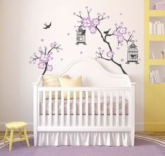 Baby Girl Room Decor Cherry Blossom Tree Wal Decal Wall Decals For Nursery  Wall Sticker Personalized Wall Decals DecalIsland Branches SD Part 79