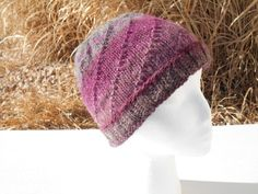 Hand knit wool and acrylic blend hat by stickshooksandyarn on Etsy, $25.00