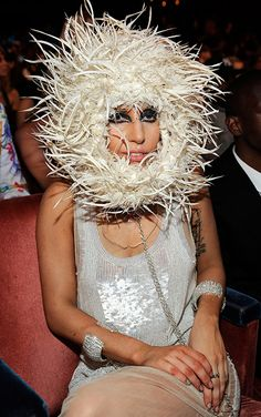 Lady Gaga in the audience at the 2009 MTV Video Music Awards at Radio City Music Hall.