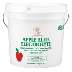 Farnam Apple Elite Electrolyte 20 lb by Farnam. $32.75. UNITED STATES. Electrolyte salts provide the needed electrolytes to maintain depleted body fluids if your horse is under stress or in hard training or competition. Delicious apple-flavored granules deliver sodium, calcium, potassium, magnesium, and trace minerals - nutrients that may be lost by dehydration. A boon to competition, working, and endurance horses. These delicious electrolytes are in granulated form to make fe...