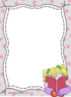 BORDERS FOR KID: Dia Mundial del Libro Infantil - 02 de Abrilknlklknkklknlkklklhjñljñojñljmñlmjlñmñlmññlkk{k{k{k Borders For Paper, Borders And Frames, Powerpoint Background Design, Border Templates, School Frame, Baby Frame, School Clipart, Cute Frames, Page Borders