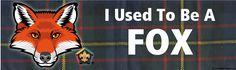 Wood Badge Fox Tartan Bumper Sticker (SP5051) - ClassB
