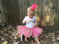 Pink and Gold Tutu Set Pink and Gold Birthday di Cre8tiveBowtique