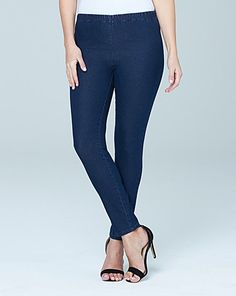 These slim leg jeggings are a wardrobe staple, offering a superb fit and great value. Made from stretch denim, they feature a pull-on elasticated waist and are designed in a slim-leg style, making these jeggings the ultimate in comfort and ease. Slim Legs, Jeggings, Capri Pants, Skinny Jeans, Clothes, Accessories, Shoes, Fashion, Thin Legs
