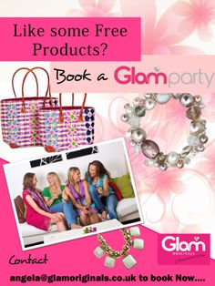 Book a Glam Party and earn some free products.