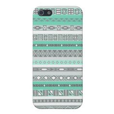 Cool Mint Tiffany Aztec Pattern iPhone Case Case For iPhone 5 $37.95