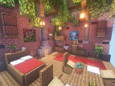 Old room design! Here are a lot of small tricks you can pick up and use! 😉 … Old room design! Here are a lot of small tricks you can pick up and use! 😉 ——- An Original Minecraft Design By Kugio 🌲 Default Textures /… Cute Minecraft Houses, Minecraft Room, Minecraft Plans, Minecraft House Designs, Amazing Minecraft, Minecraft Tutorial, Minecraft Blueprints, Minecraft Memes, Minecraft Crafts