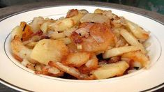 I think I was about 13 years old, watching the movie Midnight Run when I first heard Charles Grodin mention Potatoes Lyonnaise. I remember thinking that they sounded pretty damn good…and for some reason that memory stuck with. It was years before I actually had potatoes lyonnaise, but once I did, I understand the famished Grodin's desire. In this