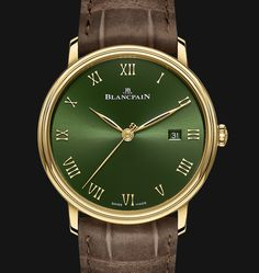 *Blog Update - Read iN!* #Blancpain 40mm Villeret Extraplate Boutique Edition⌚️ 18k Yellow Gold with Sunburst Green Dial!!🎉