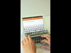 turn your ipad into an old fashioned typewriter!