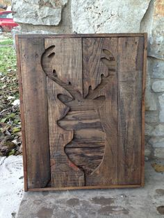 Hey, I found this really awesome Etsy listing at https://www.etsy.com/listing/169209151/pallet-wood-deer-silhouette-wall-hanging