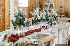 Bohemian glam wedding reception table decor. See more of this Real Wedding on WeddingWire! Wedding Reception Table Decorations, Wedding Themes, Wedding Centerpieces, Wedding Photos, Farm Wedding, Summer Wedding, Romantic Weddings, Real Weddings, Big Spring