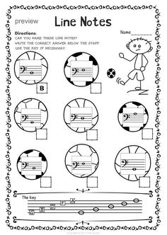 Bass Clef Worksheets you can print for free to help master