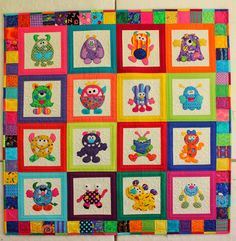 Silly Goose Quilts: Little Monsters ... Again