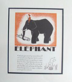 1930s French Art Deco Giclee/Elephant - L'Affichiste - $150.00 - domino.com